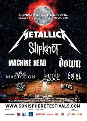 Sonisphere Festival - Barcelona, Spain, 11th July 2009 - Metal Storm
