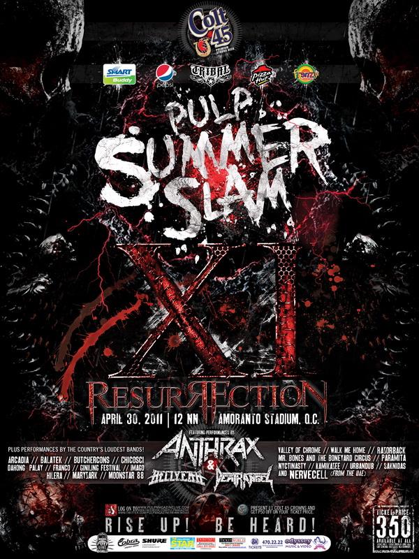Pulp Summer Slam 2020.Phi Quezon City Pulp Summer Slam Festival Xi Metal Storm