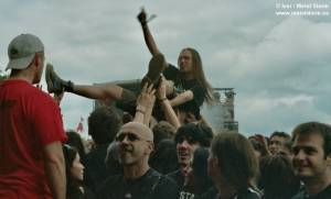Photos of People and the Festival - Crowdsurfing During Danko Jones
