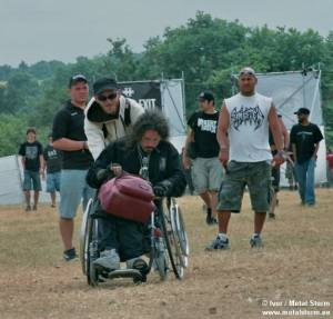 Photos of People and the Festival - Wheelchair ain't No Obstruction for Metal Fan