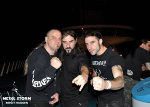 Impressions/Fans Barge To Hell 2012 - Barge To Hell 2012 - Behemoth/Rotting Christ members posing for the camera