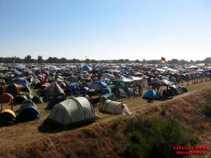 The Fest - Part of the campsite on Friday morning