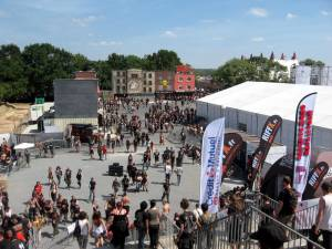 The Fest - Up on the Stairway to Hell, looking at HF Village