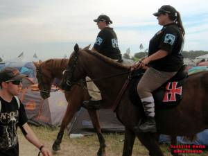 The Fest - Mounted police patrolling the campsite